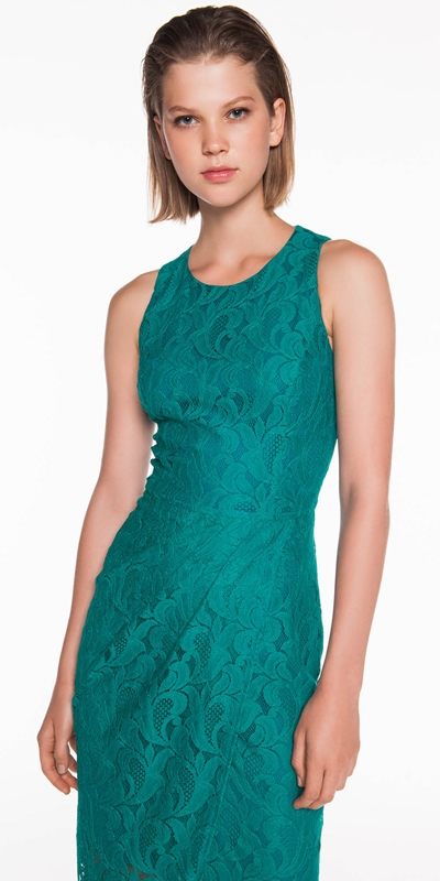 The Party Edit  | Leafy Lace Dress