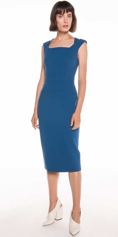 Made in Australia | Crepe Cap Sleeve Pencil Dress