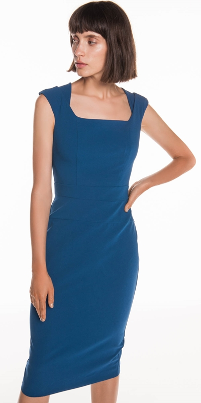 Dresses | Crepe Cap Sleeve Pencil Dress