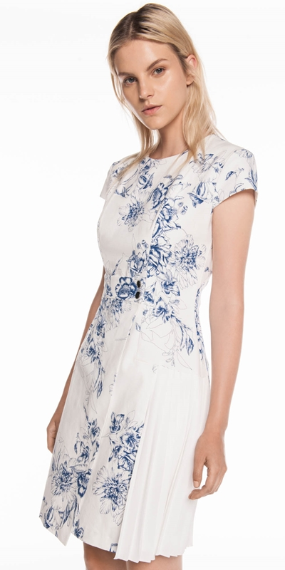 Dresses | Toile Floral Asymmetric Dress