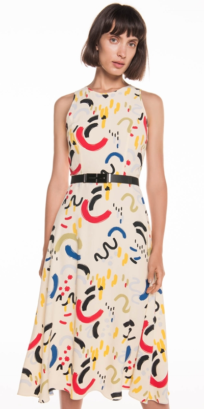 Made in Australia  | Abstract Primary Midi Dress