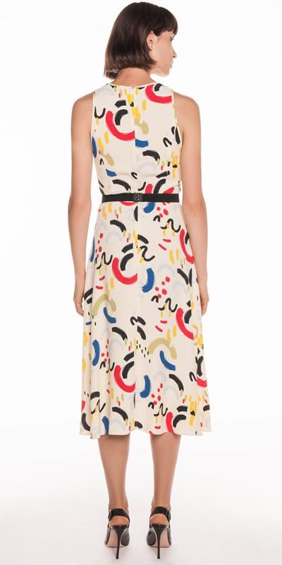 Dresses | Abstract Primary Midi Dress