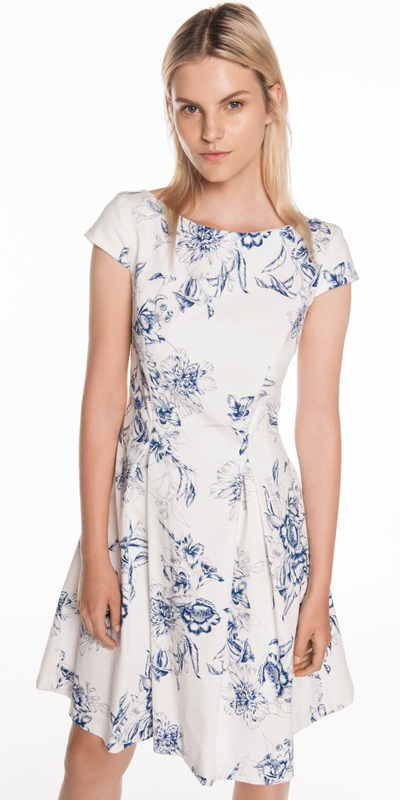 Dresses  | Toile Floral Fit and Flare Dress
