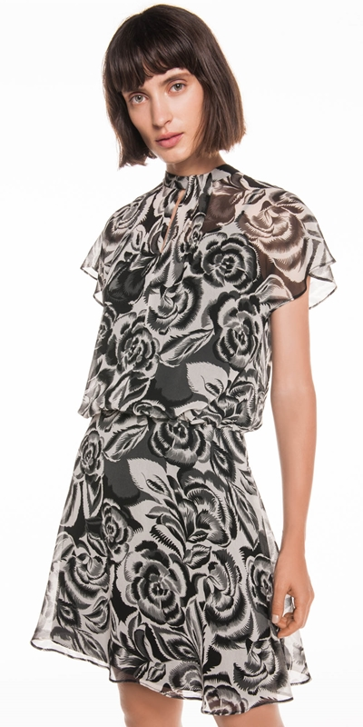 Dresses  | Abstract Floral Georgette Dress
