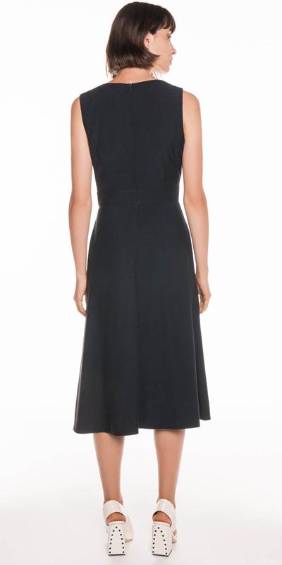Dresses | Drapey Pique Midi Dress