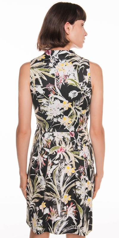 Dresses | Island Floral Linen Dress