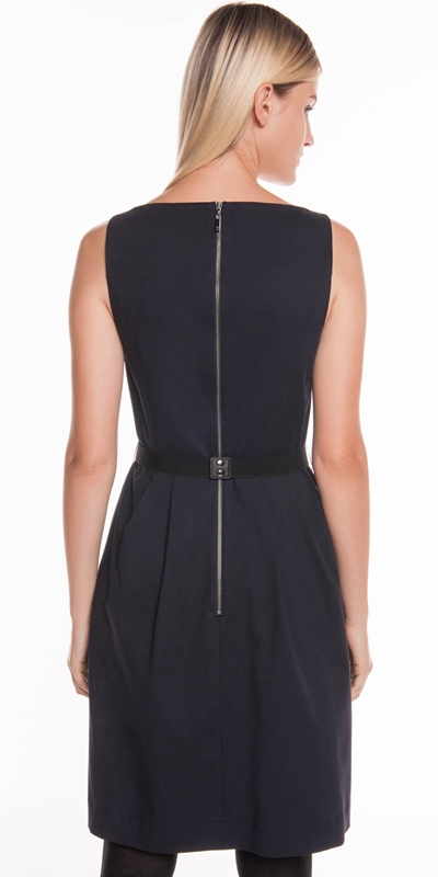 Dresses | Cotton Twill Belted Dress