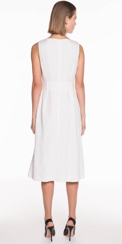 Dresses | Linen Blend Midi Dress