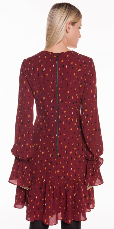Dresses   Ikat Spot Layered Frill Dress