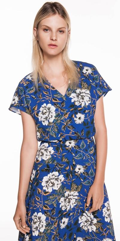 Dresses | Floral Crepe Midi Dress