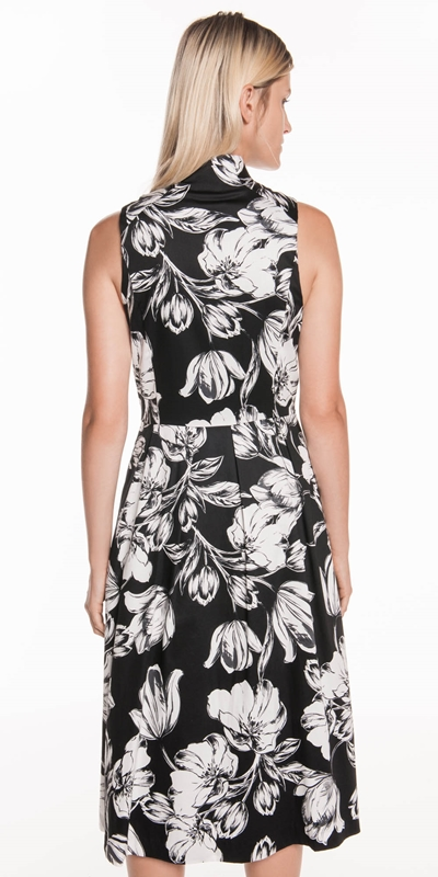 Dresses | Illustrated Tulip Zip Front Dress