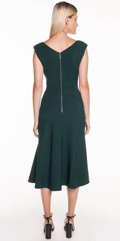 Dresses | Boat Neck Midi Dress