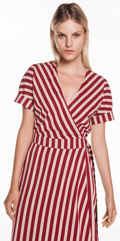 Made in Australia  | Bold Stripe Wrap Dress