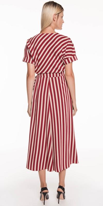 Dresses | Bold Stripe Wrap Dress