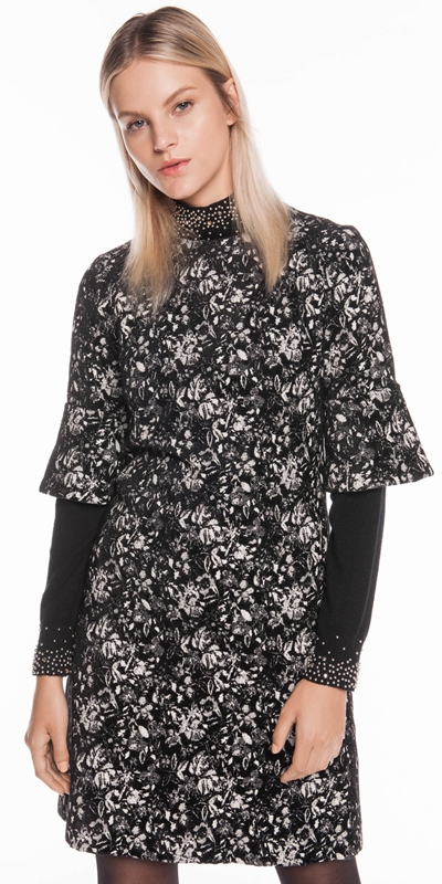 Dresses | Abstract Floral A-Line Dress