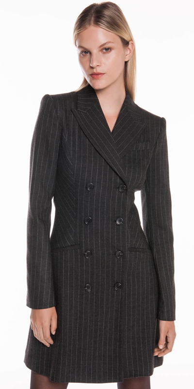 Dresses | Flannel Pinstripe Blazer Dress