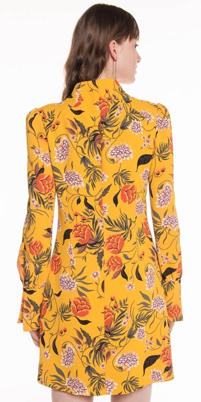 Dresses | Golden Wallpaper Floral Dress
