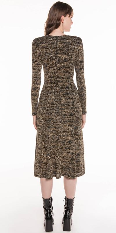 Dresses | Gold Sparkle Midi Dress
