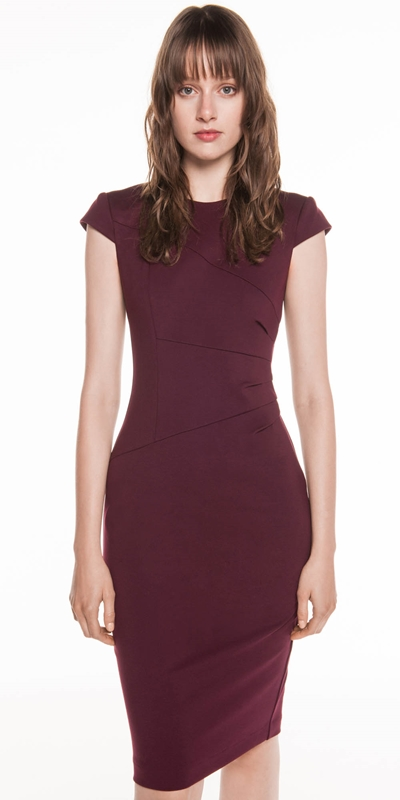Wear to Work  | Fanned Waist Tuck Pencil Dress
