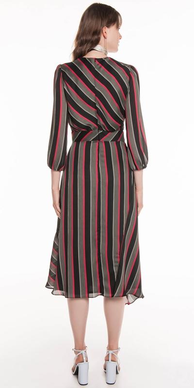 Dresses | Highlight Stripe Chiffon Dress