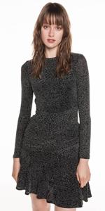Dresses | Shimmer Knit Long Sleeve Dress