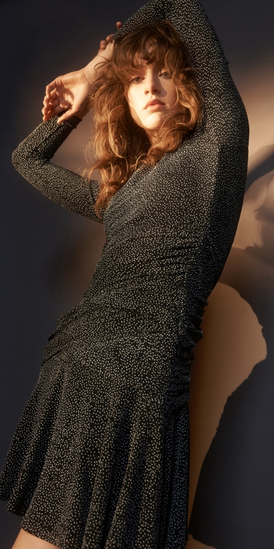 Dresses | Shimmer Knit Long Sleeve Dress