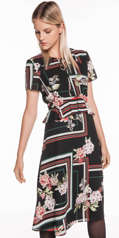 b624bd618c Floral Scarf Midi Dress | Buy Dresses Online - Cue