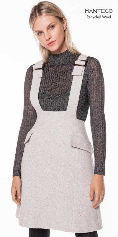 Made in Australia | Textured Wool Pinafore