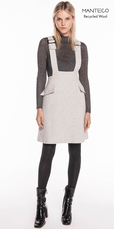 Dresses | Textured Wool Pinafore