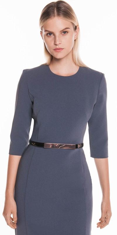 Dresses | Cropped Sleeve Belted Pencil Dress