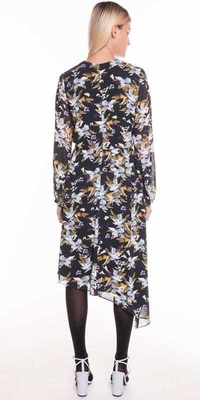 Dresses | Graphic Floral Asymmetric Hem Dress