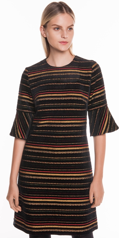 Made in Australia  | Chenille Stripe Jacquard Dress