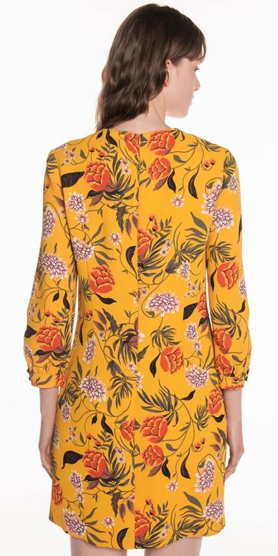 Dresses   Golden Wallpaper Floral A-line Dress