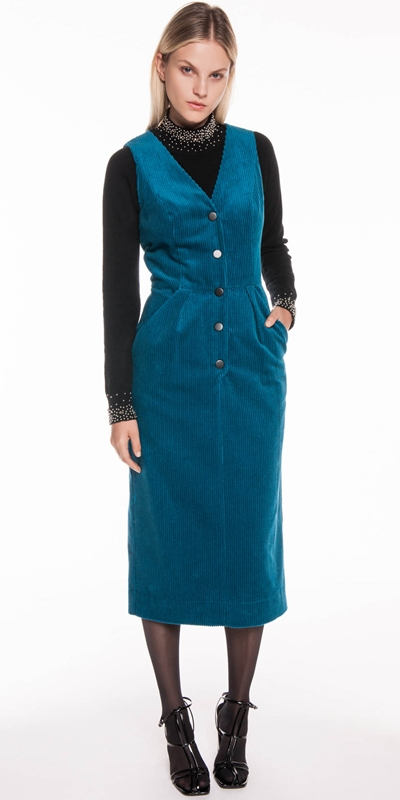 Dresses | Corduroy Midi Dress