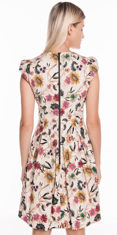 Dresses   Vivid Floral Cap Sleeve Dress
