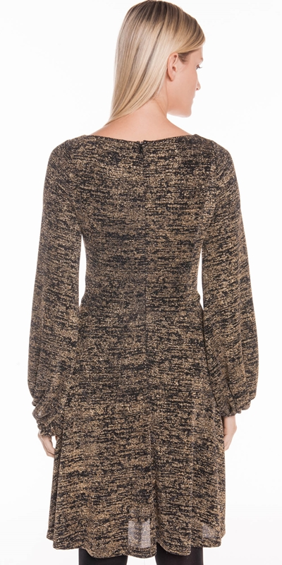 Dresses | Sparkle Knit Blouson Sleeve Dress