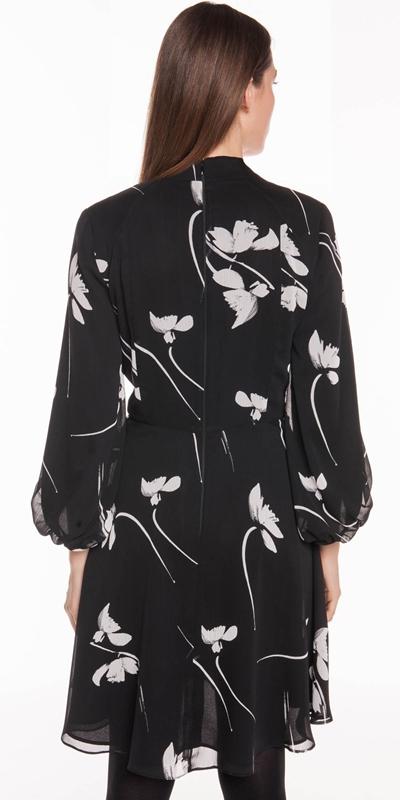 Dresses | Monochrome Poppy Blouson Sleeve Dress