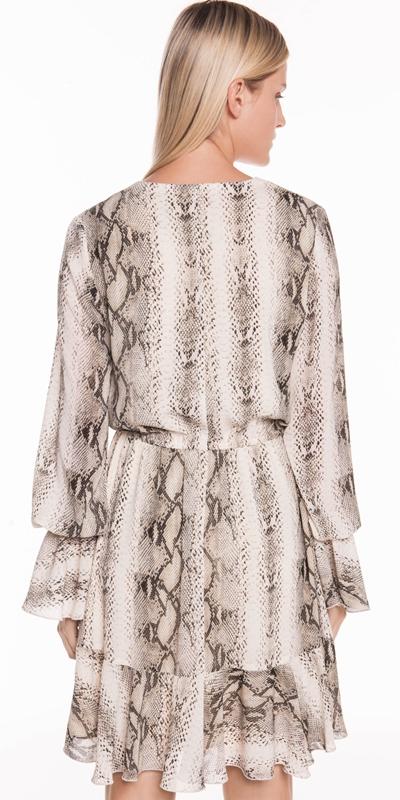 Dresses | Crinkle Georgette Fluted Dress