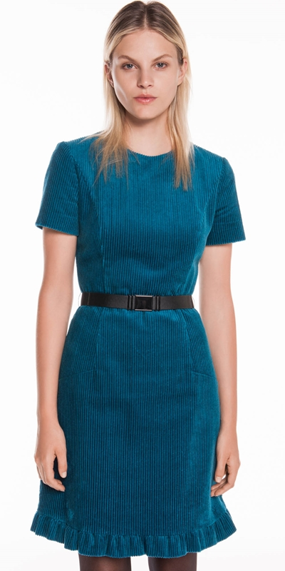 Dresses | Corduroy Belted Dress