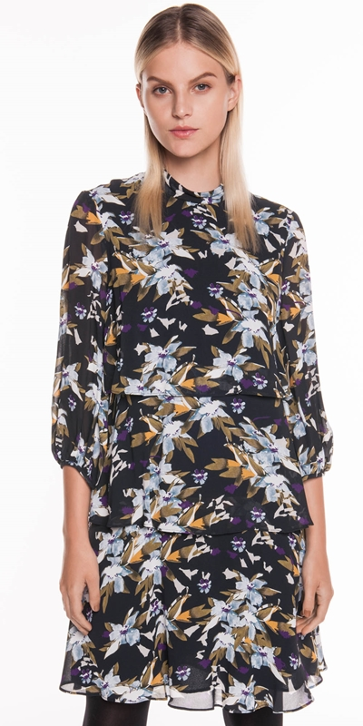 Made in Australia | Graphic Floral Tiered Dress