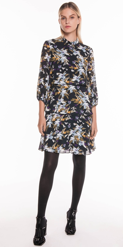 Dresses | Graphic Floral Tiered Dress