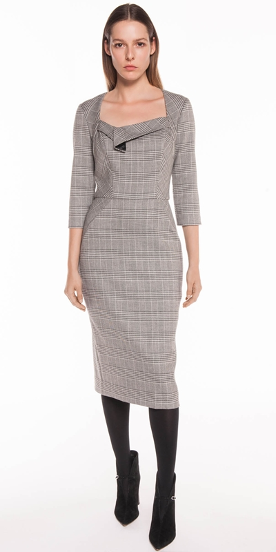 Dresses | Houndstooth Pencil Dress