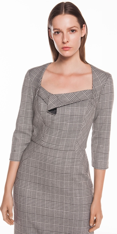 Wear to Work  | Houndstooth Pencil Dress