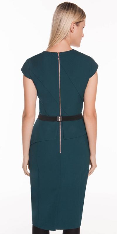 Dresses | Belted Cap Sleeve Dress