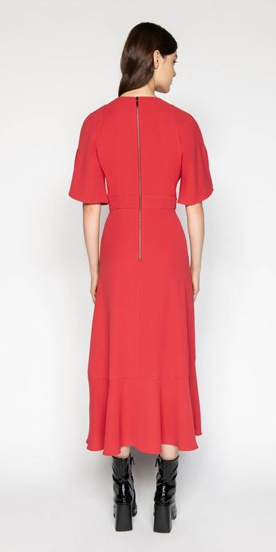 Dresses | Crepe Asymmetric Frill Dress