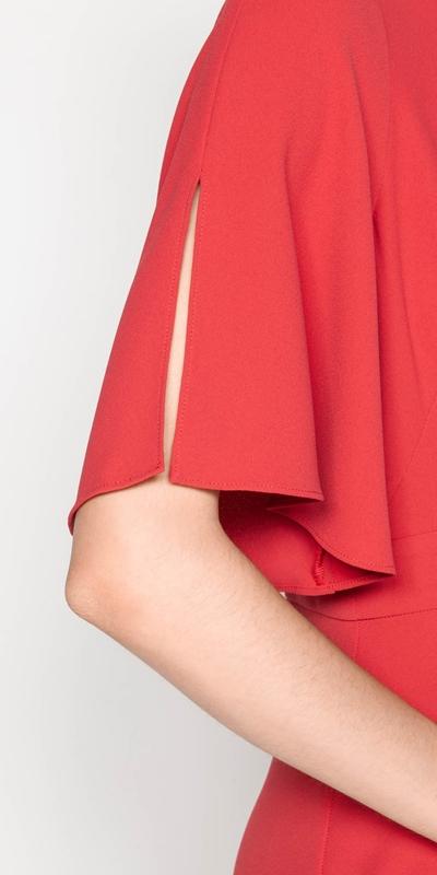Dresses   Crepe Asymmetric Frill Dress