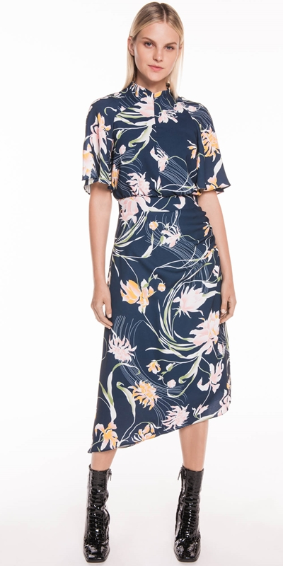 Made in Australia | Oriental Lily Asymmetric Dress