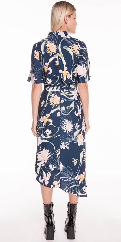Dresses | Oriental Lily Asymmetric Dress