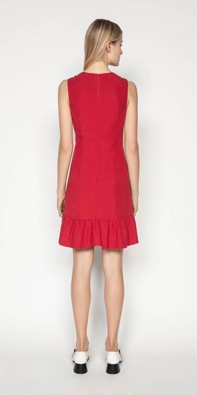 Dresses | Linen Frilled Hem Dress
