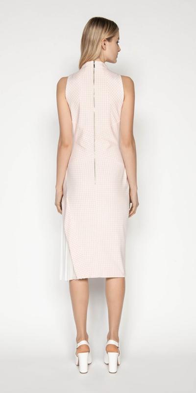Dresses | Gingham Funnel Neck Dress